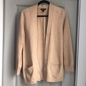 Lands and camel open front cardigan
